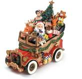 Fitz & Floyd Santa Classic Car 'We Wish You A Merry Christmas' Musical Figurine