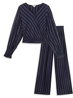 HABITUAL KIDS Girls' Cassidy Metallic Striped Top & Pants Set - Big Kid