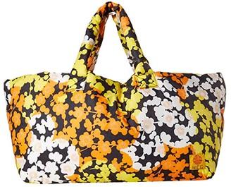 McQ Printed Inside Out Bag (Black Multi) Handbags