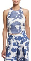 KENDALL + KYLIE Halter-Neck Printed Tank Top, Tempest