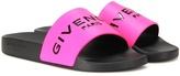 Givenchy Slide Leather And Rubber Sandals
