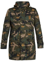 Valentino Insect-embroidered Camouflage-print Parka