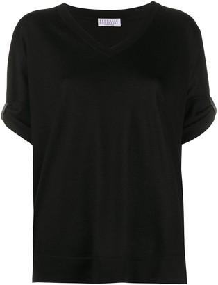 Brunello Cucinelli rhinestone-embellished loose-fit T-shirt
