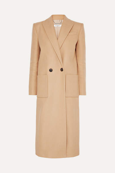 Givenchy Double-breasted Wool-felt Coat - Camel