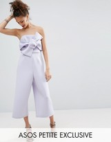 Asos Structured Occasion Bow Jumpsuit