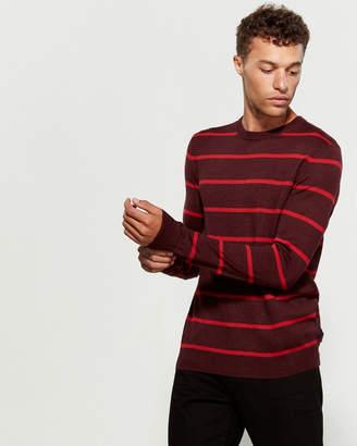 Calvin Klein Wool-Blend Striped Sweater