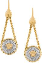 Versace Engraved Medusa pendant earrings