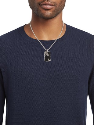 Effy Sterling Silver & Black Onyx Crocodile Pendant Necklace