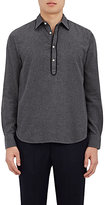 Officine Generale Men's Flannel Ethan Shirt-GREY