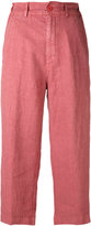 Aspesi cropped trousers - women - Linen/Flax - 44