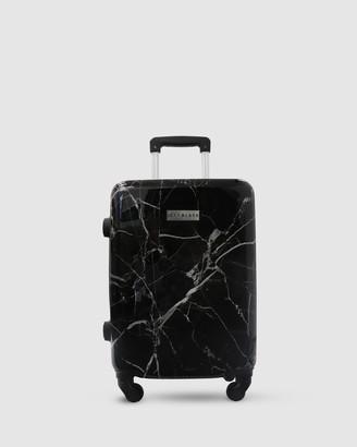Jett Black Black Marble Carry On Suitcase