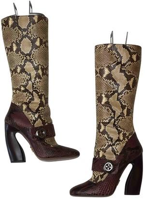 Prada Beige Water snake Boots