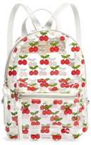 BP Transparent Cherry Print Mini Convertible Backpack