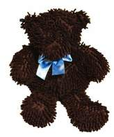 Pam Grace Creations Chocolate Chip Bear - Chocolate with Blue Bow, 18 by