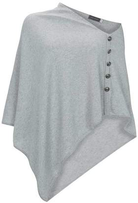 Mint Velvet Grey Military Knitted Poncho