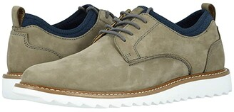 Dockers Fleming Leather Smart Series Dress Casual Oxford (Grey Nubuck) Men's Lace up casual Shoes