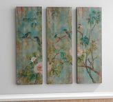 Pottery Barn Bird & Branch Triptych Panels - Set of 3