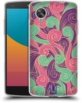 Head Case Designs Vivid Swirls Soft Gel Back Case Cover for LG Google Nexus 5 D820 D821