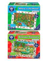 Fashion World Pack of 2 Nature Past & Present Jigsaws
