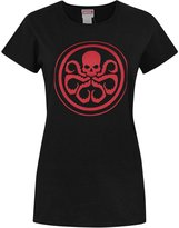 Marvel Official Hyrdra Logo Women's T-Shirt (M)