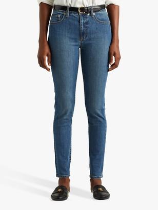 Ralph Lauren Ralph High Rise Five Pocket Slim Jeans, Mid Blue