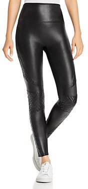 Spanx Faux Leather Quilted Leggings
