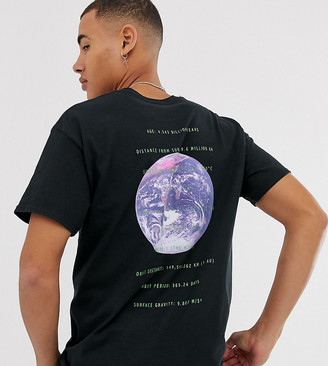 Reclaimed Vintage space print tshirt-Black