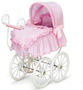 Hauck Toddler Girls Baby Doll Canopy Stroller Bed Victorian Pram Buggy Furniture Pretend Play for Babydoll - American Girl + More!