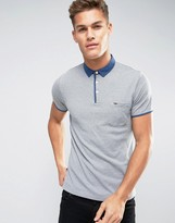 Tommy Hilfiger Pique Polo Contrast Collar in Gray