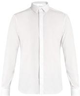 Valentino Button-cuff slim-fit cotton-blend shirt