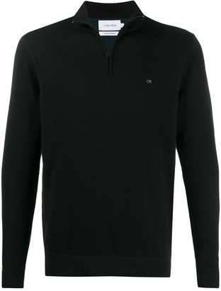 Calvin Klein Embroidered Logo Half-Zip Jumper