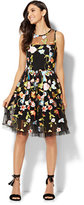 New York & Co. Embroidered Tulle-Overlay Dress