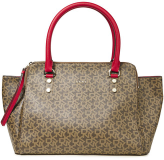 DKNY Logo-print Faux Leather Tote