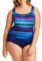 Longitude Plus X-Back One-Piece Swimsuit