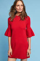 Knitted & Knotted Ruffle-Sleeve Mock Neck Tunic