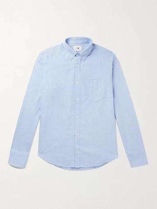 NN07 Levon Button-Down Collar Cotton-Chambray Shirt - Men - Blue
