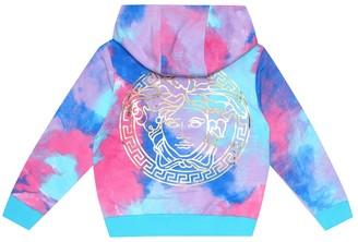 Versace Kids Cotton zip-up hoodie