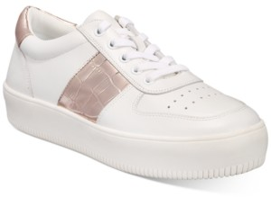 INC International Concepts Inc Women's Libbee Lace-Up Croc Sneakers, Created For Macy's Women's Shoes
