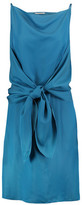 Nina Ricci Tied Satin-Crepe Dress