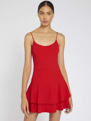 Alice + Olivia PALMIRA RUFFLE TANK DRESS