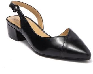 Naturalizer Frisco Dorsat Leather Slingback Block Heel