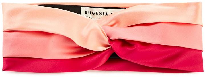 Eugenia Kim Hedy Twisted Color-block Satin Headband