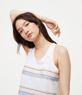 LOFT Embroidered Stripe Vintage Soft Racerback Tank