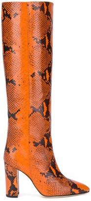 Paris Texas Snake Effect Knee-Length Boots