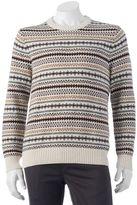 Croft & Barrow Big & Tall Classic-Fit Fairisle 7GG Crewneck Sweater