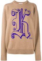 Christopher Kane logo detail knitted sweater - women - Virgin Wool - XS