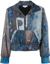 Natasha Zinko abstract print jogging jacket