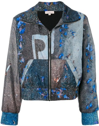 Natasha Zinko Abstract Print Jogging Jacket