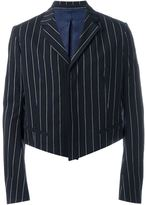 Haider Ackermann cropped striped blazer - men - Cotton/Spandex/Elastane/Rayon - 46