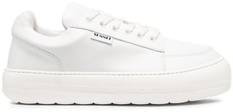 Sunnei Flat Lace-Up Sneakers